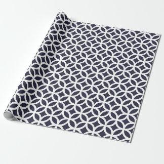 Geometrisch Donker Marineblauw Verpakkend Document Cadeaupapier