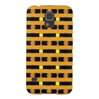 Geometrisch in Geel en Zwart Galaxy S5 Hoes