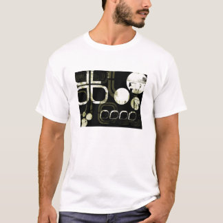 Geometrisch/Industrieel Patroon T Shirt
