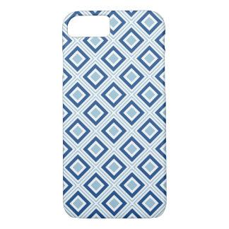 geometrisch koel de kleurenblauw van het iPhone 7 hoesje