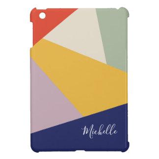 Geometrisch Modern Gepersonaliseerd Patroon   van iPad Mini Hoesje