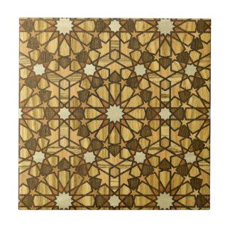 Geometrisch Patroon 1 van de Moskee van Qarawiyyin Keramisch Tegeltje