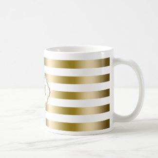 Geometrisch Patroon 2 van de Strepen van Koffiemok