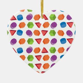 Geometrisch patroon keramisch hart ornament