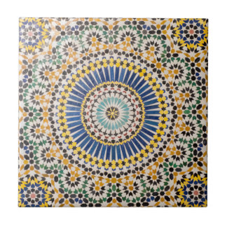 Geometrisch tegelpatroon, Marokko Keramisch Tegeltje