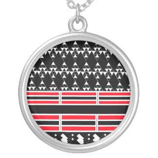 Geometrisch Zwart en Rood Ketting
