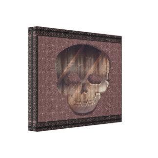 Geometrische 3D Schedel met Lijst Canvas Afdrukken