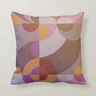 Geometrische abstracte retro cirkels in warme sierkussen