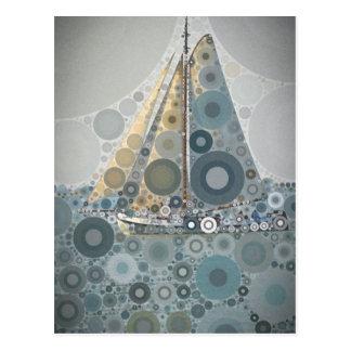 Geometrische de kunstgiften van de cirkel Varende Briefkaart