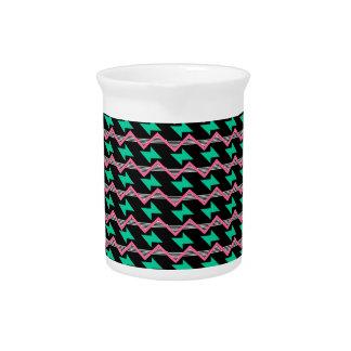 geometrische druk drink pitcher