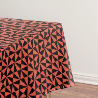 Geometrische Gewaagde Retro Funky Zwarte Oranje Tafelkleed