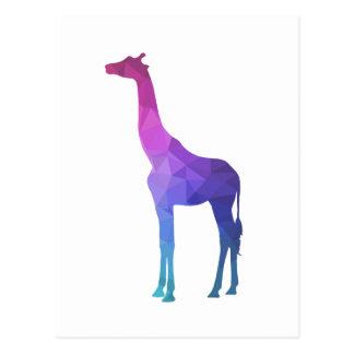 Geometrische Giraf met het Trillende Idee van de Briefkaart