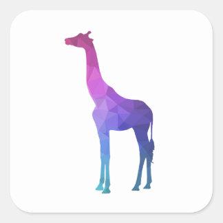 Geometrische Giraf met het Trillende Idee van de Vierkante Sticker