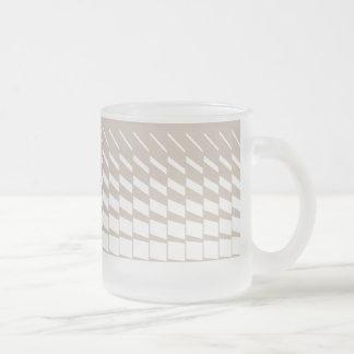 Geometrische kinetische de kunstgrafiek van Taupe Matglas Koffiemok