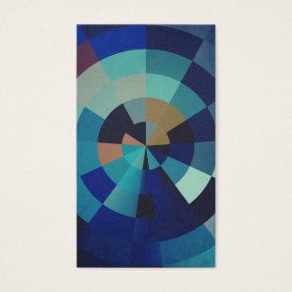 Geometrische Kunst | Blauwe Cirkels, Bogen, en Visitekaartjes