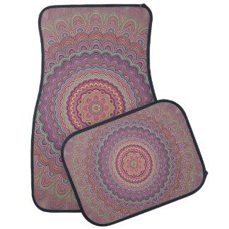 Geometrische mandala van de hippie auto vloermat