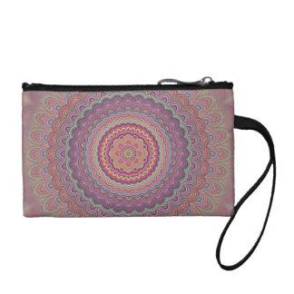 Geometrische mandala van de hippie kleingeld portemonneetje