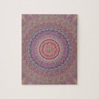 Geometrische mandala van de hippie puzzel