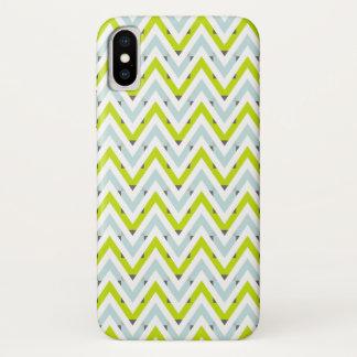 Geometrische Patroon van de Chevron van de munt iPhone X Hoesje