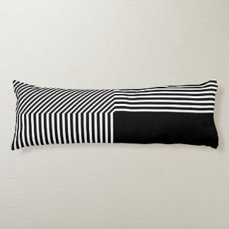Geometrische zwart-witte abstractie, lichaamskussen
