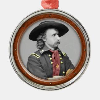 George Armstrong Custer Zilverkleurig Rond Ornament