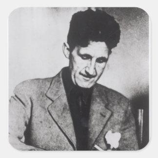 George Orwell Vierkante Sticker