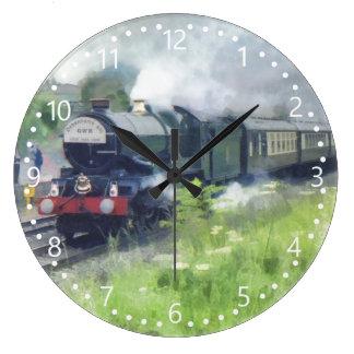 George Steam Train van de koning witte genummerde Grote Klok