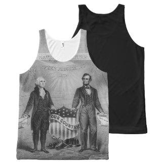 George Washington Abraham Lincoln de Patriottische All-Over-Print Tank Top