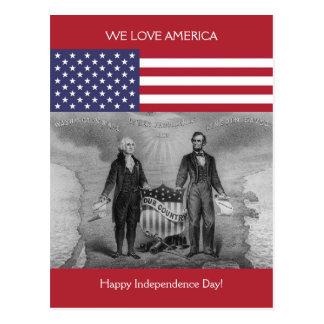 George Washington Abraham Lincoln de Patriottische Briefkaart