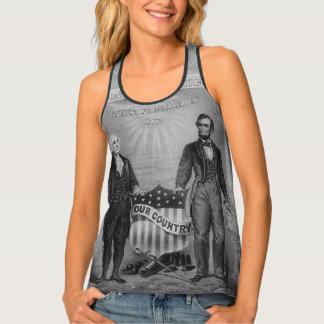 George Washington Abraham Lincoln de V.S. Tanktop