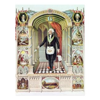 George Washington als Vrijmetselaar Briefkaart