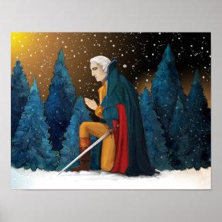 George Washington bij Vallei smeedt het Bidden Poster
