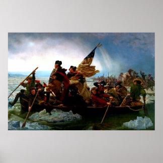 George Washington die Rivier 1851 kruisen van Poster