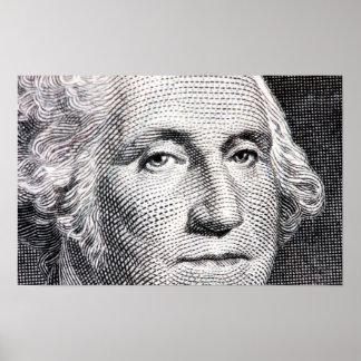 george Washington dollarrekening Poster