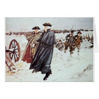 George Washington en Baron von Steuben Briefkaarten 0