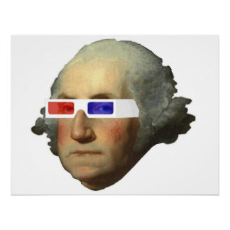 George Washington in 3D Poster