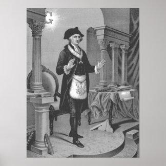 George Washington in Vrijmetselaars- Regelia 2 Poster