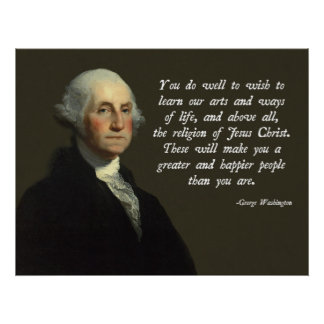 George Washington Jesus-Christus Poster