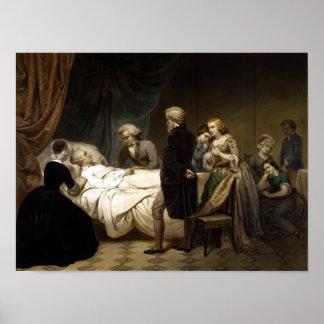 George Washington op Zijn Sterfbed Poster