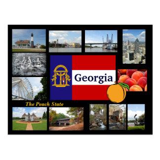 Georgië het Briefkaart van de Staat van de Perzik