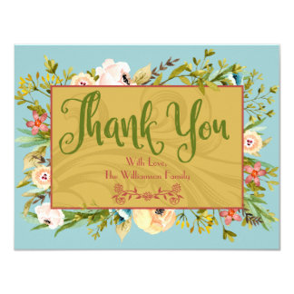Gepersonaliseerd bloemen dankt u kaardt kaart