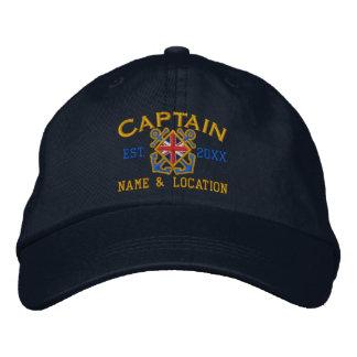 Gepersonaliseerd Britse Kapitein Nautical uk Vlag Petten 0