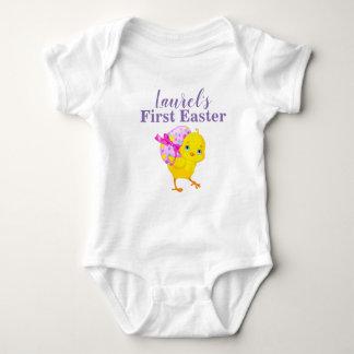 gepersonaliseerd de eerste Pasen overhemd Romper