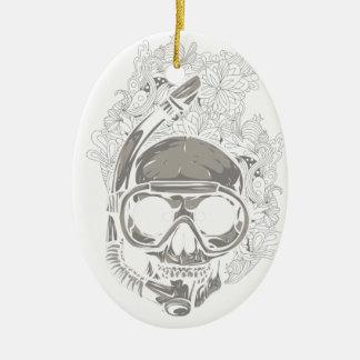Gepersonaliseerd duik de Scuba-duiker van de Keramisch Ovaal Ornament