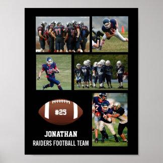 Gepersonaliseerd Football 5 het Team van de Naam Poster