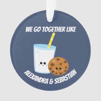 Gepersonaliseerd gaan wij samen als melk en ornament