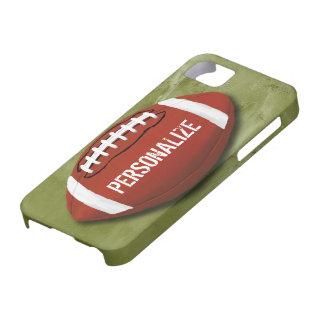 Gepersonaliseerd Groen Football Grunge iPhone 5 Case