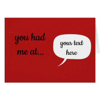 Gepersonaliseerd had u me bij… Kaart