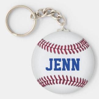Gepersonaliseerd Honkbal Keychain Sleutelhanger