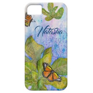 Gepersonaliseerd iPhoneHoesje met Vlinder & Barely There iPhone 5 Hoesje